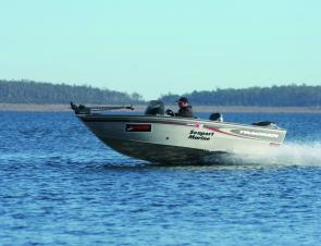 The 75hp Mercury Optimax pushed the Tracker along fast enough to reach distant fishing spots, but at mid-range and on the plane the fuel economy was fantastic and the speed fine.