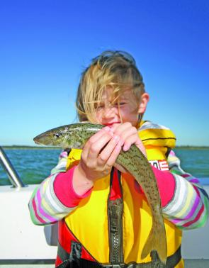 Asha-Marie Day (4) caught some beautiful whiting using the Black Magic Whiting Snatcher. While kids find it hard to strike fish, these rigs hook the fish for them, a sure way to make your kids smile.