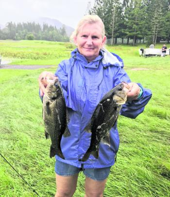 Sue Barber claimed fifth place out of a field of 45 anglers.