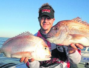 There are plenty of snapper about in the Port, all you have to do is drop a bait.