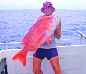 Wally Campbell with 17kg of red emperor caught wide of the gutters.