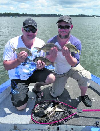 Darren and Shane went out for a trip on Castaway and caught a few bream.