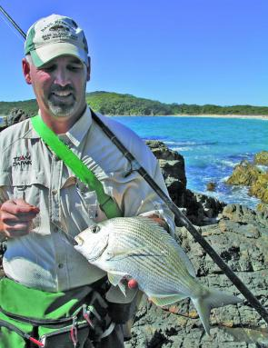 Big bream, tarwhine and pigs are the main target for those wanting a feed around the rocks.