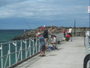 The pier at Apollo Bay is the most popular land-based fishing spot in the region.