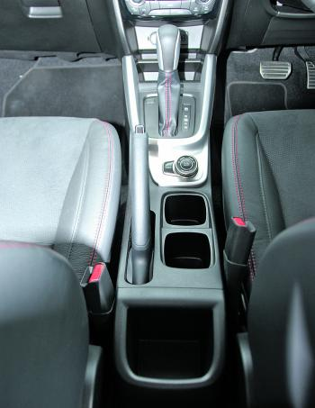 The Suzuki's high standard of finish is easily seen in the seat stitching.