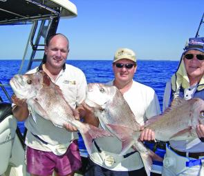 The boys from Ipswich with some quality snapper taken recently. Fish like this have been common enough over the warmer months that we are now expecting a bumper winter season.