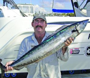 The author with one of only a handful of wahoo to come aboard this season.