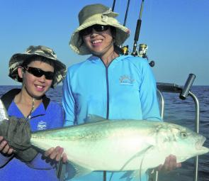 Harumi and Gio teamed up on this trevally.