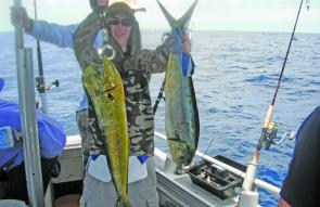 Mahi mahi are everywhere past the 50m line this year.
