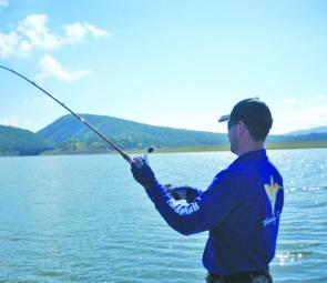 The big bass in Lake Moogerah will fight hard but the water is open and snag-free.