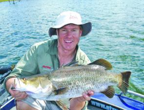 Casting lures around prominent weed growth is sure to lure quality barra