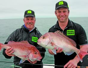 December is prime time for snapper off Apollo Bay. Expect to catch plenty of small fish but if you know where to look, quality fish like these are never far away.