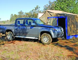 Away from the bitumen the BT50 had ample power to tow the Trek Kudu camper trailer.