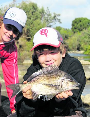 Freshwater bream are fun when things are quiet on the trout front. The higher river levels allowed bream to push into the domain of the freshwater species.