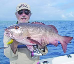 The Samurai NV9 is a perfect pole for middleweight popping around the reefs for thugs like red bass.