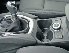 That small knob on the X-Trail's console will convert AWD to locked 4WD via the vehicle's All Mode 4x4 system.