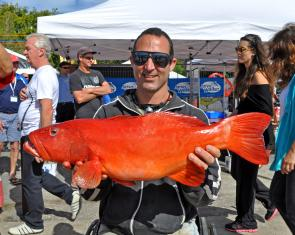 Stephen Pettinato's 69cm coral trout was a very colourful and well deserved runner up in that section of the Senior competition.