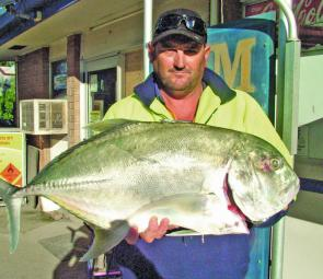 While unusual, fish like this cracking trevally can spice up your day anytime you're fishing around the Pin area.