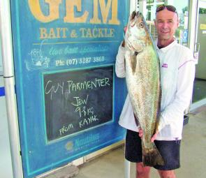 Mulloway are a frequent target and capture for anglers fishing the deeper channels around the Pin.