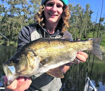 Lawry Bradley-Brown with a nice Glenelg River estuary perch.