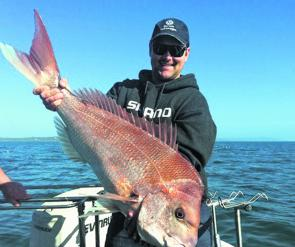 Mark Sullivan with his 9kg Mornington snapper.