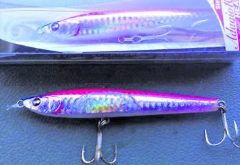 Once again in 2015, the pink Adagio Duel 125 was the best performer out of all of our lures.