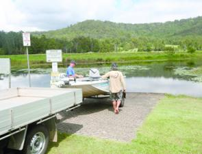 The boat ramp is in good shape and most vehicles will be satisfactory for launching