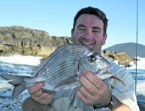 Some big bream are coming off the inshore islands and headlands. You can pull fish from boat or shore – just keep you eyes on the sea conditions.