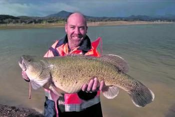 Michael Dodsley with his 81cm cod taken from up in the top end of the lake.