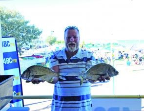 Shawn Culley took out the bream category with a 670g bream.