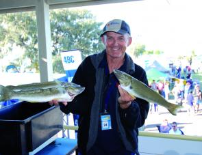 Wayne Young landed a great bag of tasty whiting, and a stack of prizes for his efforts.