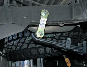 Greaseable shackles for leaf spring units are an important part of the ARB suspension tuning package.