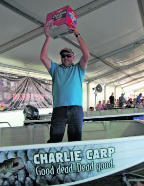 Mark Jeffrey claimed the Carp Boat in the random draw.