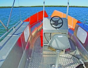 Hatches and compartments within the box like gunwale sides are left to the buyer to option.