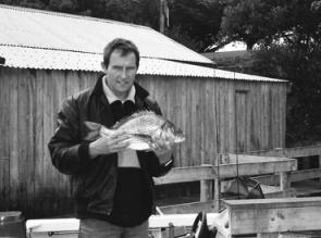 Chris Carson from Nelson Boat and Canoe Hire fishes the Glenelg regularly. This 4lb-plus bream was caught in the estuary on a Berkley soft plastic.