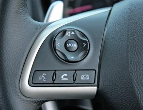 The ASX's steering wheel controls are easily identifiable and spot on for convenience.
