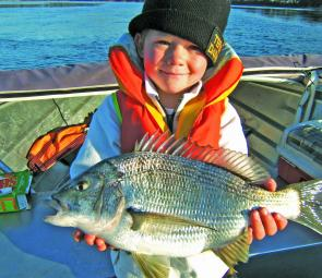 Ben Sherriff with a very nice Pipers River bream.