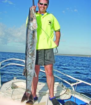 Wally Campbell with a horse of a barracouta.