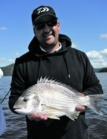 Big bream will be keen to snaffle lures and baits around Broken Bay as the water temperatures keep dropping.