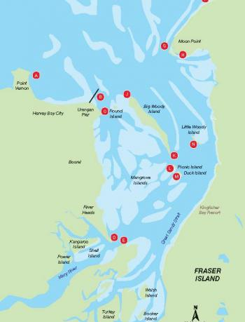 Map of bream fishing hotspots.