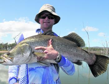 Closed seasons don't mean the end of barramundi fishing and the dams fish awesomely this time of year for some very big fish.