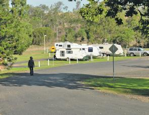 Caravans are well catered for in these camp grounds and a group of them will be the first thing you see on entering the park.
