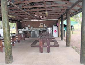 Camp kitchens are spacious and kept very clean by management.