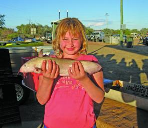 The winner of the Junior longest catfish was Reagan Ernst with this 45.7cm model.