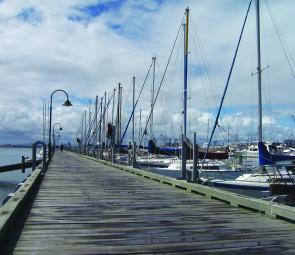 Ferguson Street Pier at Williamstown – anglers should target bream holding under the moored boats or up against the pier pylons.