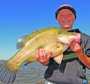 Jock Mackenzie with a honking yella from the Kerang Lakes.