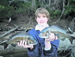 Zach caught and released these cracking bream on soft plastics.