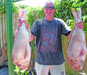 Glenn Frost with a brace of Port reds
