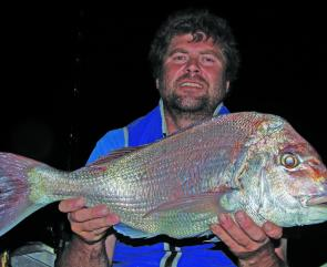 Michael fished after dark for 5kg of Queenscliff red fury.