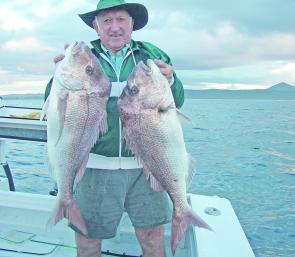 Denni Bell with a couple of good quality inshore reds. Expect more this month.